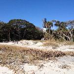View of the lighthouse from the beach
