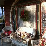 front porch at Christmas
