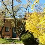 Fall foliage at Santa Fe bed breakfast- Pueblo Bonito Inn.
