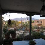 View of Sandia Mountains from back porch