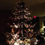 Beautiful gingerbread Christmas tree in lobby. Pastry chef & team are exceptionally talented!