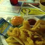 half fried shrimp plate