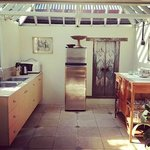 The kitchen - my favourite part of the villa.
