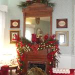 the mantle in the living room
