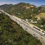 The view of the freeway from the Getty is amazing!