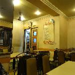 the interiors - the  speciality dishes are mentioned on the white board