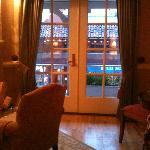 French doors to balcony