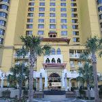 This is the front of the hotel.