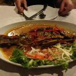 Fish with red curry... order this!