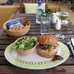 terrace bar - tuna burger, the more casual of the three restaurants