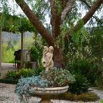 Guesthouse garden area