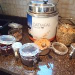 Oatmeal station & all the fixins
