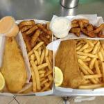 Barra & Chips With Calamari