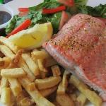 Baked Sockeye Salmon and Chips