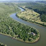 Sibuya game Reserve - Forest Camp from the air