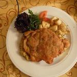 Photo of Schnitzel from room service