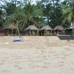 the little bungalows - view from the beach