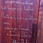 Shakespeare on the door