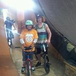 My son with Jeremiah Smith at Camp Woodward