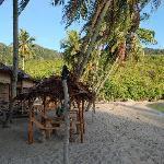 Les bungalows sur la plage