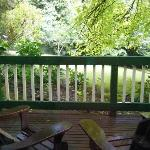 Decking & Garden at Kookaburra Cottage