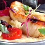Seasonal scallops at George & Dragon Inn, Burpham