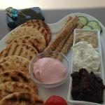 Delicious appetizer with local dips