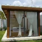 Private spa gazebo