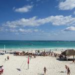 Vistas de la playa desde la terraza snak bar