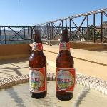 Beers on balcony