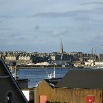 Vue depuis la chambre sur St Malo