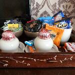 Complimentary goodies in room