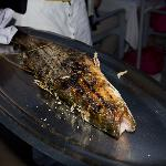 Perfectly grilled Sea Bass presented before service