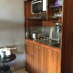 In-room kitchenette.