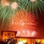Descarga de fuegos de artificio de la VILLA DE CANGAS