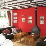 Coffee Shop - sofas and log burner area