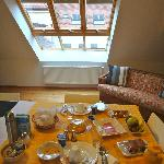 Breakfast in the attic loft suite