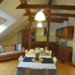 Attic loft suite kitchen & dining