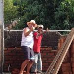 join in with the locals for a bit of bricklaying!