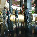 Thai army turned the lobby into a high security area where guests have no place