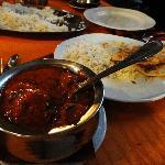 Nan+chicken tikka masala
