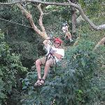 Me on Zip Line...The Guides are Great!