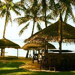 Bar and beach area
