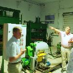 Tour of olive oil production by the manager.