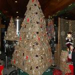 Christmas tree cork display