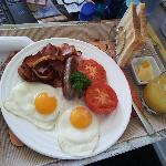 Cooked breakfast (yum!!!)