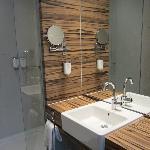 Bathroom, clean and spacious!