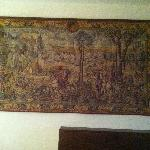 Tapestry on the wall