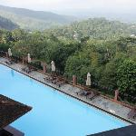 Swimming Pool looking over the mountain