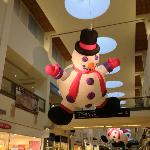 Flying snowman